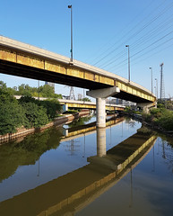 Highways and Byways (jeffcbowen) Tags: overpass highway reflection donriver toronto