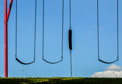 Broken (bettyinparis) Tags: playground swings swing summer broken sky park nikon d3200 sigma70300mm minimalism
