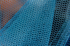 Mesh (kurjuz) Tags: macromondays mesh blue finenet orange