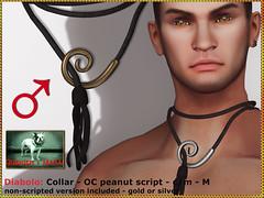 Bliensen - Diabolo - Collar - M (Plurabelle Laszlo of Bliensen + MaiTai) Tags: bdsm collar kink oc opencollar sl secondlife bliense kinky leash slave dom domme