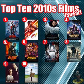 Top Ten 2010s Films (So Far)