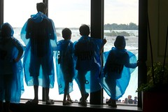Anticipation (stephencharlesjames) Tags: children wet weather slickers silhouettes niagara falls canada