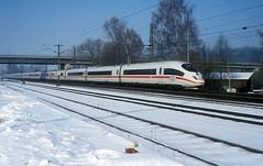 403 028  Nannhofen  20.02.03 (w. + h. brutzer) Tags: nannhofen eisenbahn eisenbahnen train trains deutschland germany ice railway zug db 403 webru analog nikon triebzug triebzüge