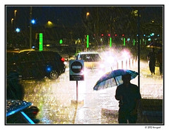 street rain (harrypwt) Tags: harrypwt canons95 s95 jakarta indonesia rain street night light people borders framed umbrella sign