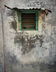 Georgetown window (2) (SM Tham) Tags: asia southeastasia malaysia penang island georgetown unescoworldheritagesite building exterior wall weathered window zinc hood textures