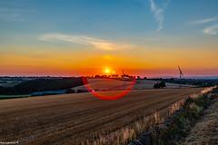 Photo of Harvest Sunset Cumbria.