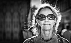 backlighting (bert • bakker) Tags: vrouw woman lady dame sunglasses zonnebril backlight tegenlicht amsterdam nederland thenetherlands nikon50mm18gse blondhaar blondehair