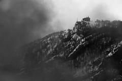 0799 The Approaching Storm (Hrvoje Simich - gaZZda) Tags: outdoors noperson fog clouds snow building travel blackwhite monchrome julianalps slovenia europe nikon nikond750 nikon283003556 gazzda hrvojesimich