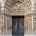 Door and tympanum, Chartres cathedral