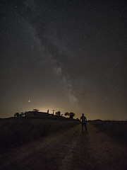 Noche de estrellas (Javier RjN) Tags: via lactea abstract pattern light cosmic firefly effect beautiful lights sparkling night sky dark way background universe milky nature space landscape city star galaxy cosmos