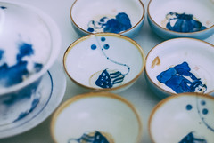 crockery (YellowTipTruck) Tags: teaparty bunfight greentea tea crockery dishes bowls medusa patterns design