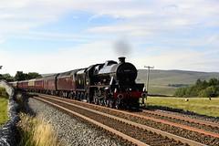 45690: York-Bound (Gerald Nicholl) Tags: 45690 5690 lms leander waverley 47237 settle carlisle york yorkshire express steam engine loco