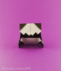 Sitting panda (mancinerie) Tags: origami papiroflexia paperfolding papierfalten francescomancini mancinerie panda