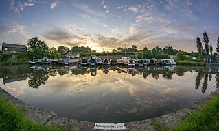 Dawn at the marina