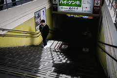 Morning sun light. (Andy @ Pang Ket Vui ( shootx2 )) Tags: street train station tokyo japan stairs sunlight morning fujifilm x100f shadow