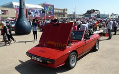 20180805 TVR car in Blackpool (blackpoolbeach) Tags: blackpool promenade classic car show tvr dha575y sports sunny crowd amusements