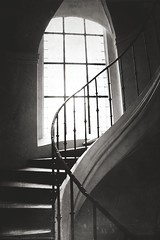 Winding stairs part 2 (soleá) Tags: soleá czechrepublic textures windingstairs churches blackandwhitephotography architecture interiors staircase stairway