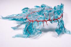 Red thread (Mónica Leitão Mota) Tags: sculpted wearable mixedmedia fibreart textileart necklace