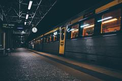 5 para a meia noite (Tiaguito Fonseca) Tags: tiaguito trainlover trains explore linhadaazambuja lisboa sony station clock regional fonseca nights friends