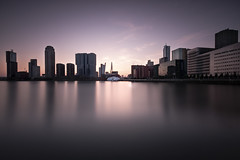 Speed of Light (Robert_Franz) Tags: architecture architectural fineart longexposure cityscape colors abstract urban city water reflection sunset building skyscraper design