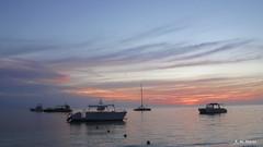 Amanecer - Dawn (R. M. Marti) Tags: botes playa amanecer mar agua boats beach dawn sea water punta cana dominican republic