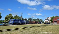 Lake Effect (GRNDMND) Tags: trains railroads greatlakescentral locomotives emd gp38 gp35 annarbor cadillac michigan