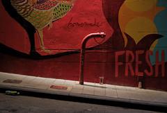 """f  fresh"" (hugo poon - one day in my life) Tags: xt100 35mm fujifilm hongkong elginstreet citynight beauty colours red graffiti art firehose urban restaurant fav"