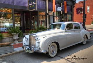 Pristine White Bentley