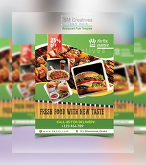 Restaurant Flyer Template (S M Abu Syeed) Tags: flyer flyerdesign flyermockup branding advertising happy graphicdesign photoshop printdesien