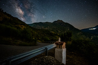Roadside Memorial Under the Milky Way