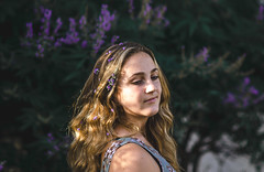 Lavender Lady (•Katie) Tags: golden portrait nature flower flowers green art light sun summer people yellow orange weather moody family nikon 85mm