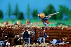 American Civil War ([E]ddy) Tags: lego minifig minifugures scene american civil war americancivilwar contest legominifigs minifigs america trench