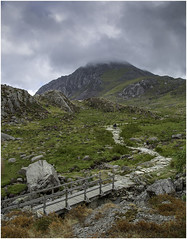 Pathway to the Clouds (Charles Connor) Tags: tryfan northwales snowdonia landscapephotography landscape clouds path nature mountains canondslr