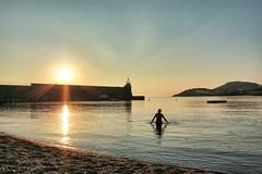 Early bath (loganemalie) Tags: sun sunset sunrise light collioure france southoffrance sea mediteranean bath model woman travel traveler beautifuldestination art artofvisual trip catalogne catalonia