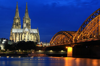 Cologne Cathedral during blue hour