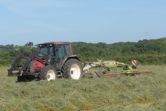 Valtra 6750 Tractor with a Claas Liner 2700 Rake (Shane Casey CK25) Tags: valtra 6750 tractor claas liner 2700 rake agco maroon rathcormac traktor traktori tracteur trekker trator ciągnik silage silage18 silage2018 grass grass18 grass2018 winter feed fodder county cork ireland irish farm farmer farming agri agriculture contractor field ground soil earth cows cattle work working horse power horsepower hp pull pulling cut cutting crop lifting machine machinery nikon d7200