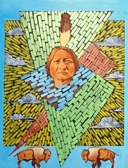 Sitting Bull (Hugues Folloppe) Tags: sitting bull indian painting chief indien chef peinture huile oil hugues folloppe portrait