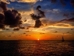 sun_kissed (gerhil) Tags: travelphotography travel landscape seascape sunset sundown sea sky clouds reflection nature gulfofmexico water ocean color dramatic
