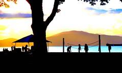 Summer pleasures (losy) Tags: kitsbeach ocean sunset play fun barbeque beach summer losyphotography silhouettes
