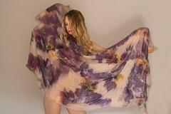 ecoprint prunus collection natural dyes (ResPiri handmadefelt) Tags: nuno felt ecoprint leaves fashion eco textile design couture handmade feltro sensual fiber art