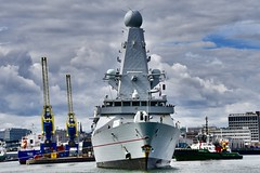 HMS Diamond - Aberdeen Harbour Scotland - 11/8/18 (DanoAberdeen) Tags: danoaberdeen winter wasser weather ecosse escocia escotia engineering riverdee river tug transport tugboat torry nikond750 navigation navy hmsdiamond d34 missile guidedmissile seafarers sailors britishnavy surfacefleet torpedo war radar surveilance airdefence gunship protectors heroes warfare harpoon 2018 candid amateur psv aberdeen scotland grampian ship boat vessel bluesky metal northsea northeast footdee fittie workboats sailor maritime pocraquay water offshore geotagged aberdeenscotland scottish seashore coastline oil oilships oilindustry danophotography cargoships supplyships oilrigs merchantnavy scotch shipspotters
