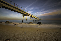 A bridge in the Mediterranean (muntsa-joan-color) Tags: beach sea seascape water bridge mar cielo puente canon catalonia catalunya playa paisaje landscape light longexpo