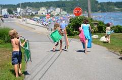 Kids Heading To The Beach (Joe Shlabotnik) Tags: 2018 july2018 higginsbeach violet helent maine gabriella boogieboard everett beach afsdxvrzoomnikkor18105mmf3556ged