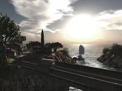 Mediterranean Village (JohnnyWalker29 Resident) Tags: landscaping mediterranean village secondlife second life panorama travel travelling