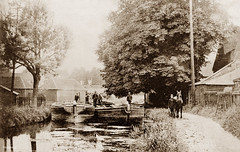 River Stort, Bishops Stortford (footstepsphotos) Tags: river stort bishops stortford canal boat barge horse towpath waterway inland wooden old vintage photo past historic people
