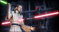 No One Can Kill a Jedi (Mindless Philosopher) Tags: shfiguarts bandai tamashii starwars thephantommenace quigonjinn darthmaul jedi sith lightsaber toy collectible nikon nikond90
