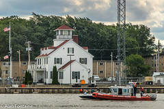 Coast Guard Station (Al Fontaine) Tags: coast guard water clouds boating boats boat