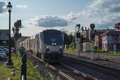 Amtrak equipment move (Mojave511) Tags: passengertrain train railroad massachusetts equipmentmove cp83 palmer amtk72 unitedstates 448 ma amtrak