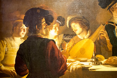 Lute player at supper (Hans van der Boom) Tags: holiday vacation europe italy firenze florence uffizi museum art honthorst lute player supper dinner tuscany it