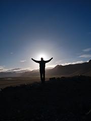 Praise the sun! (Eric_Lumix GX80) Tags: sun praisethesun silhouette landscape shadow nature contrast island iceland gx80 lumix